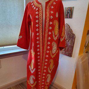 Vintage ethnic wool maxi coat